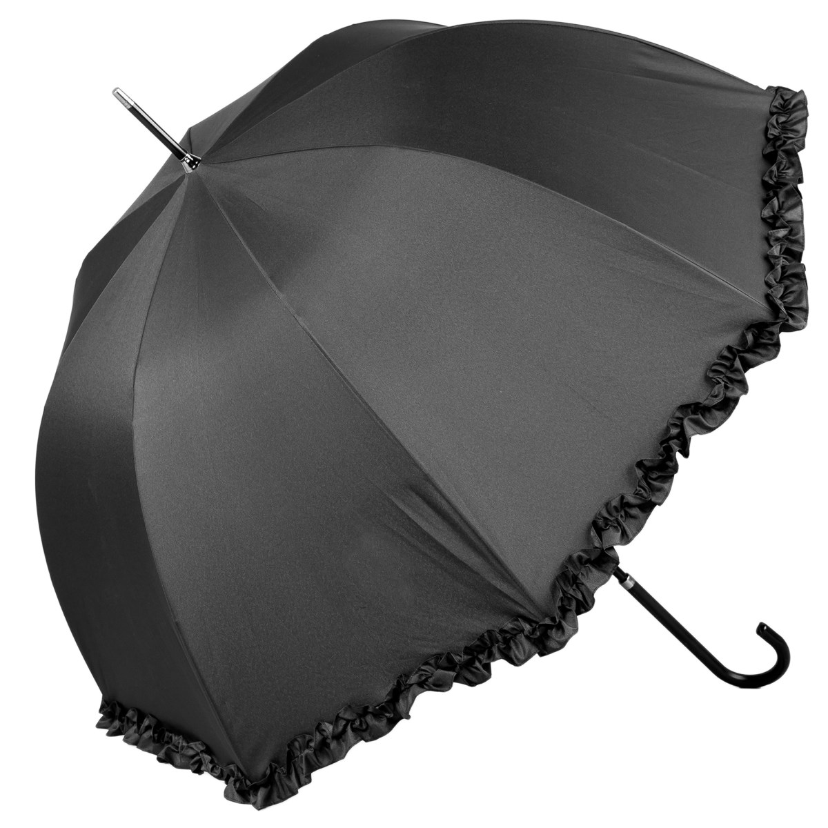 Luxury Black Wedding Umbrella (12016/BLK)