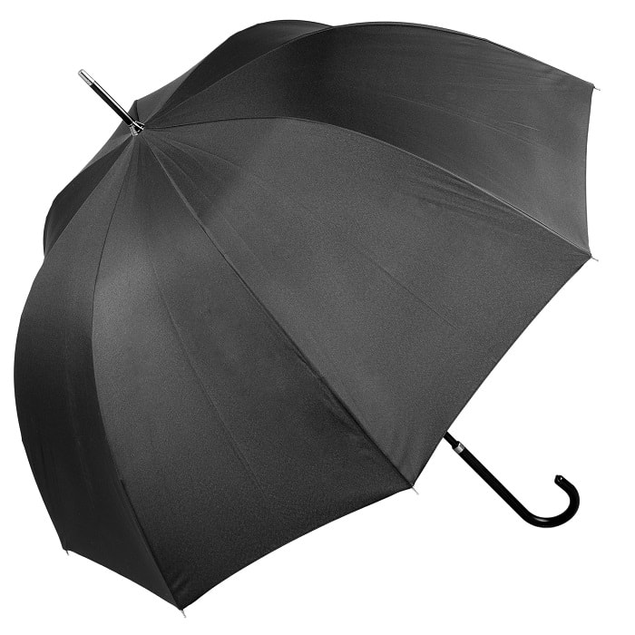 Luxury Black Wedding Umbrella (12018/BLK)