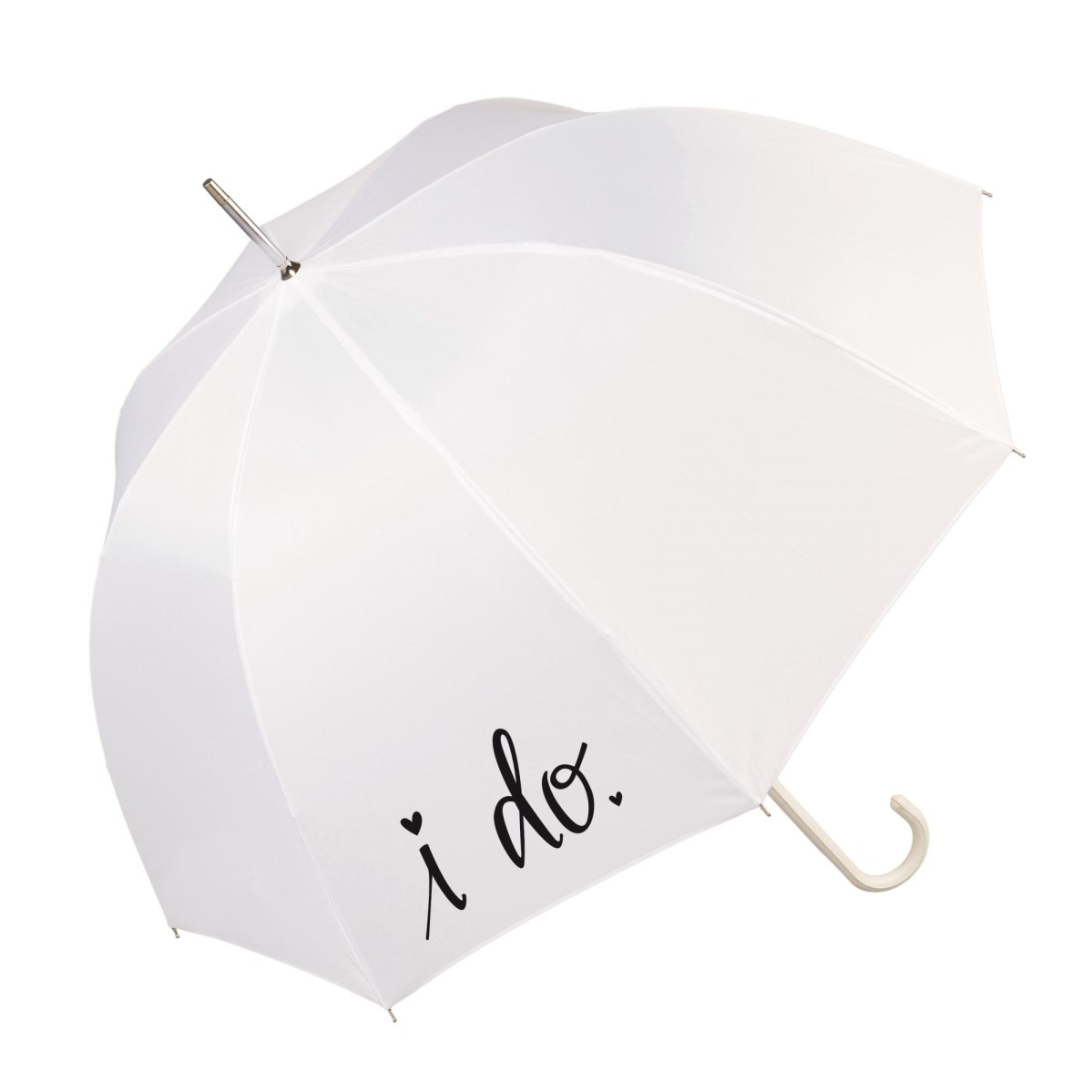 "Luxury White Wedding Slogan Umbrella ""I Do"" (17016/WHI)"