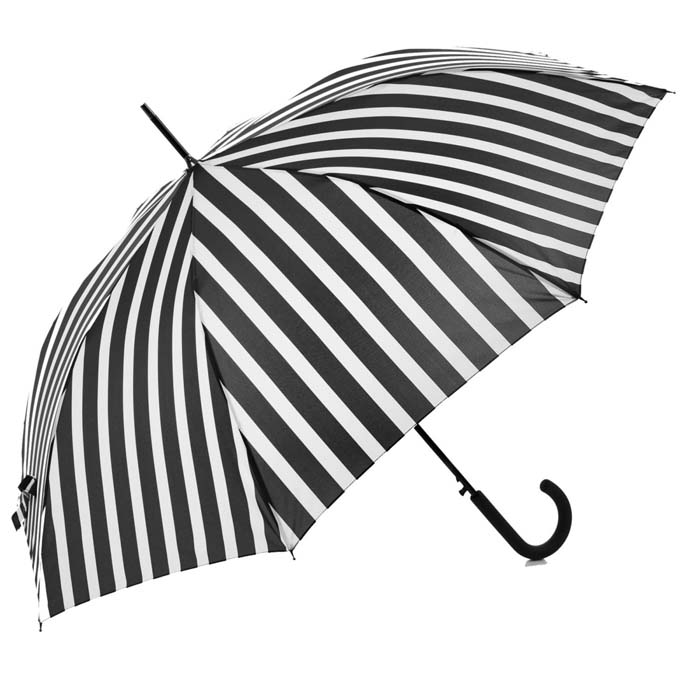 Monochrome Stripes Walking Umbrella (15001)