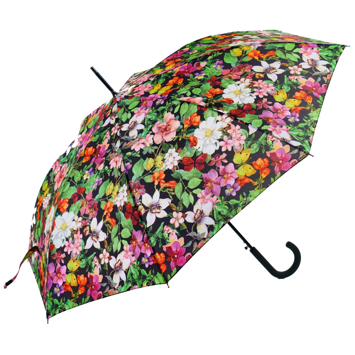 Flowery Garden Print Ladies Walking Umbrella (15002)