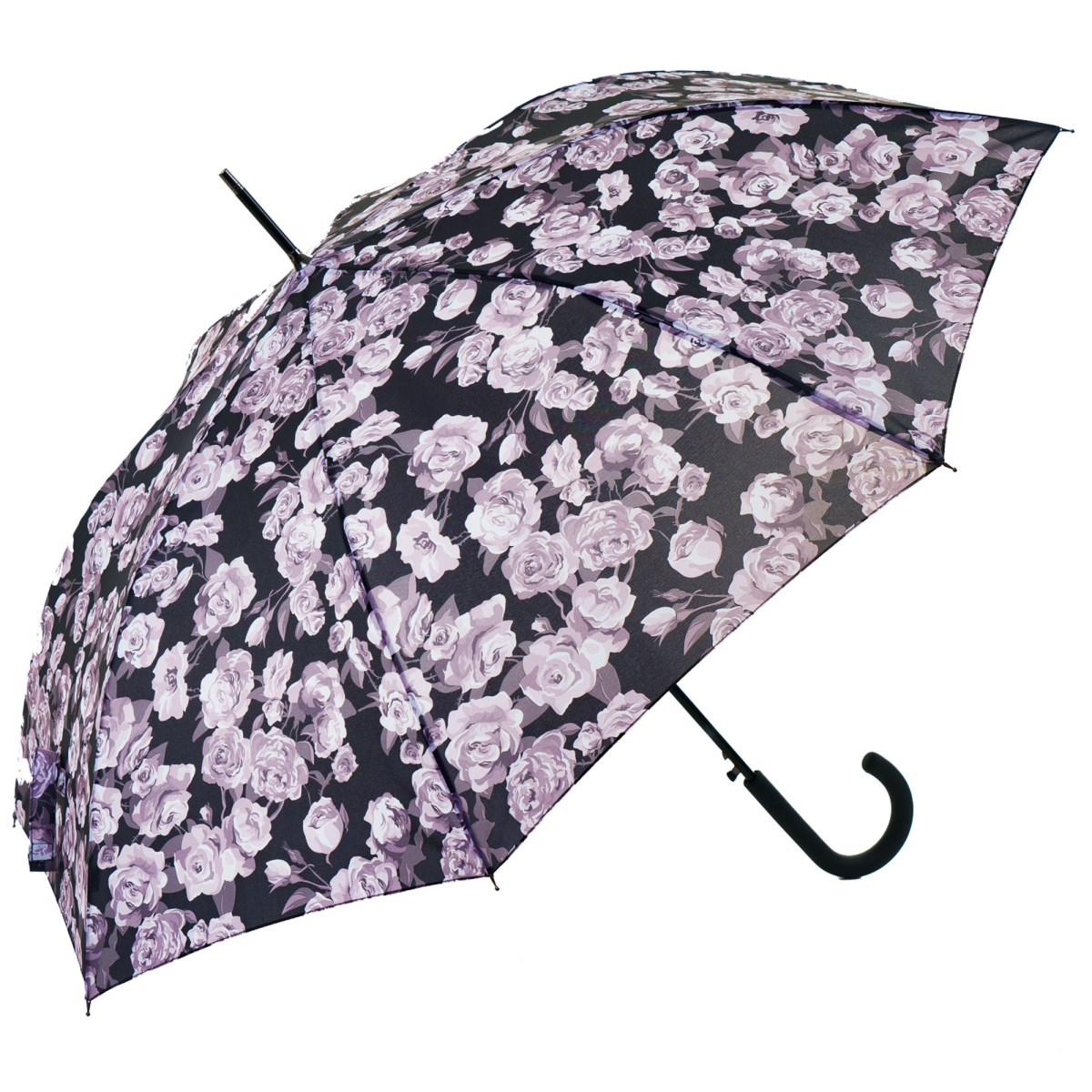 Flowery Rose Garden Print Ladies Walking Umbrella (15002)