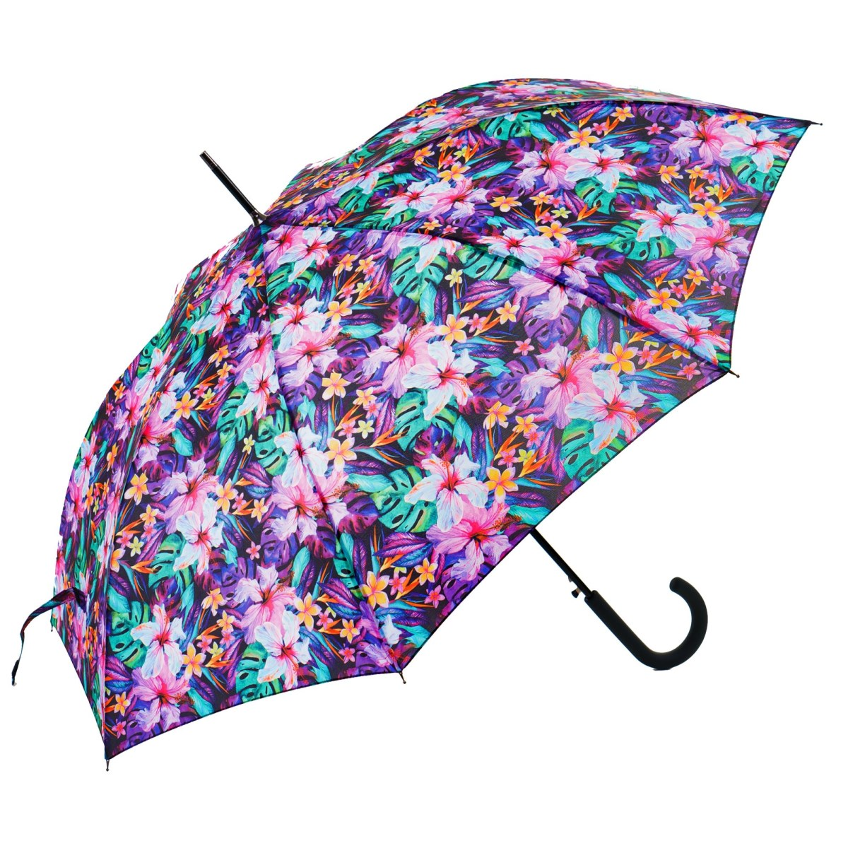Flowery Lily Garden Print Ladies Walking Umbrella (15002)