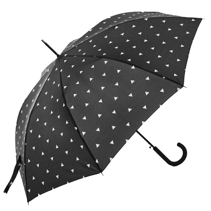 Charcoal Grey Pyramid Printed Walking Umbrella (15003)