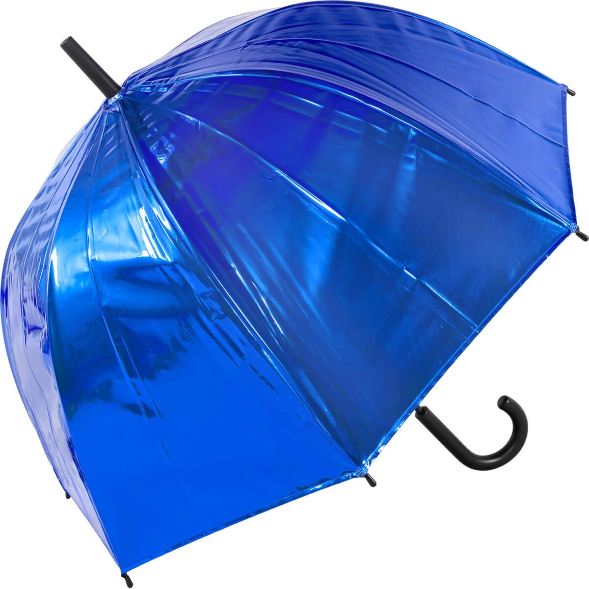 Auto Open Metallic Blue Bubble Dome Umbrella (18019)
