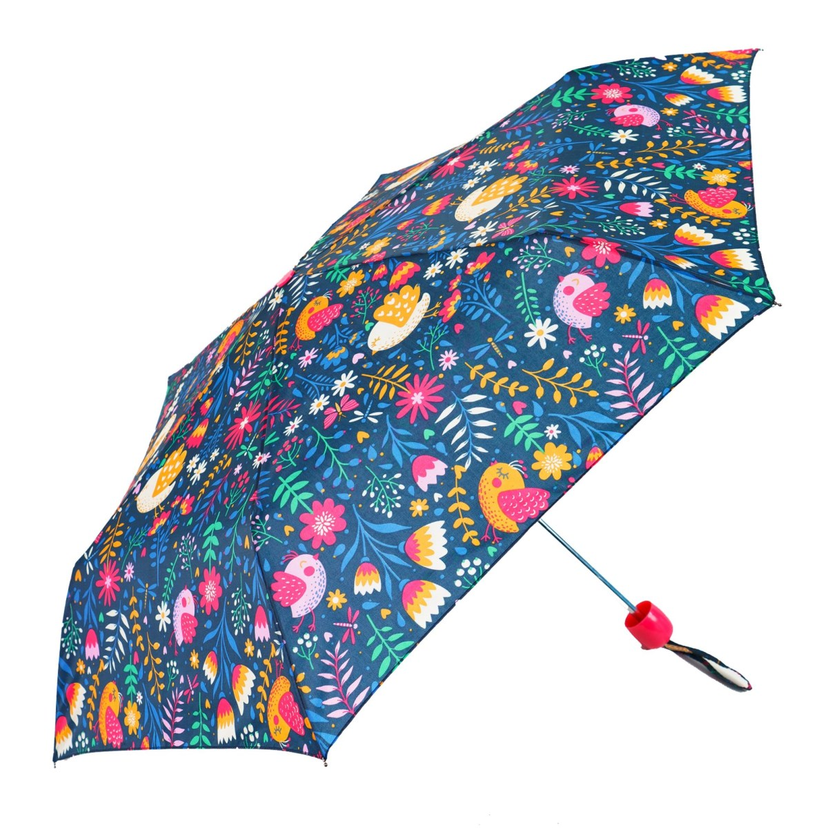 Colourful Flower Print Compact Umbrella (CS31084)