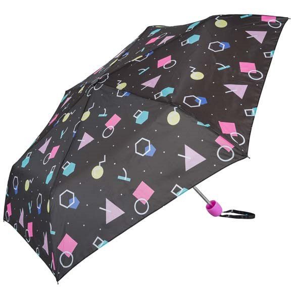 Black Retro Mix Compact Umbrella (31096)