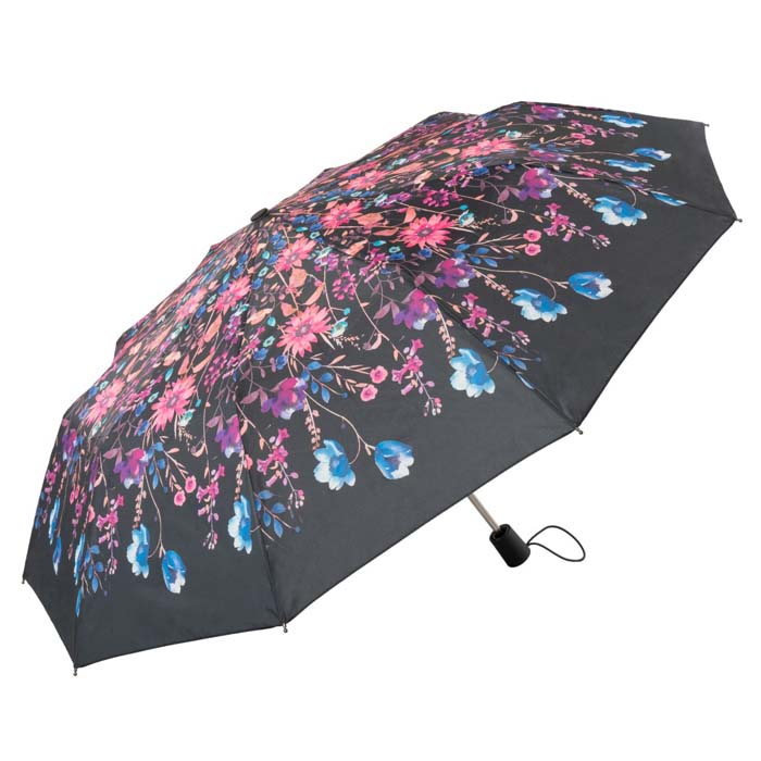 Watercolour Floral Ladies Automatic Compact Umbrella (31711)
