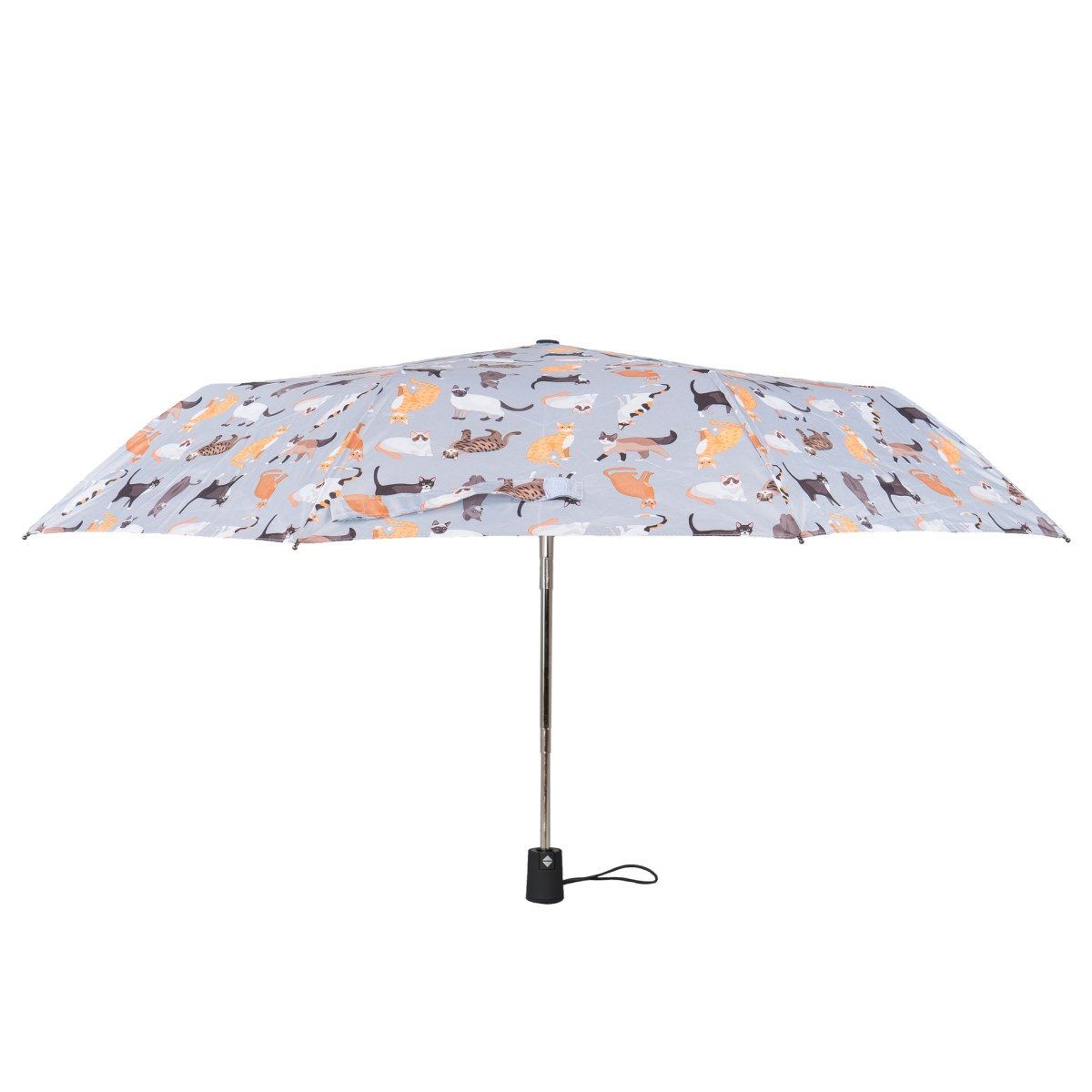 Cat print ladies compact wind resistant umbrella susino for Wind resistant material