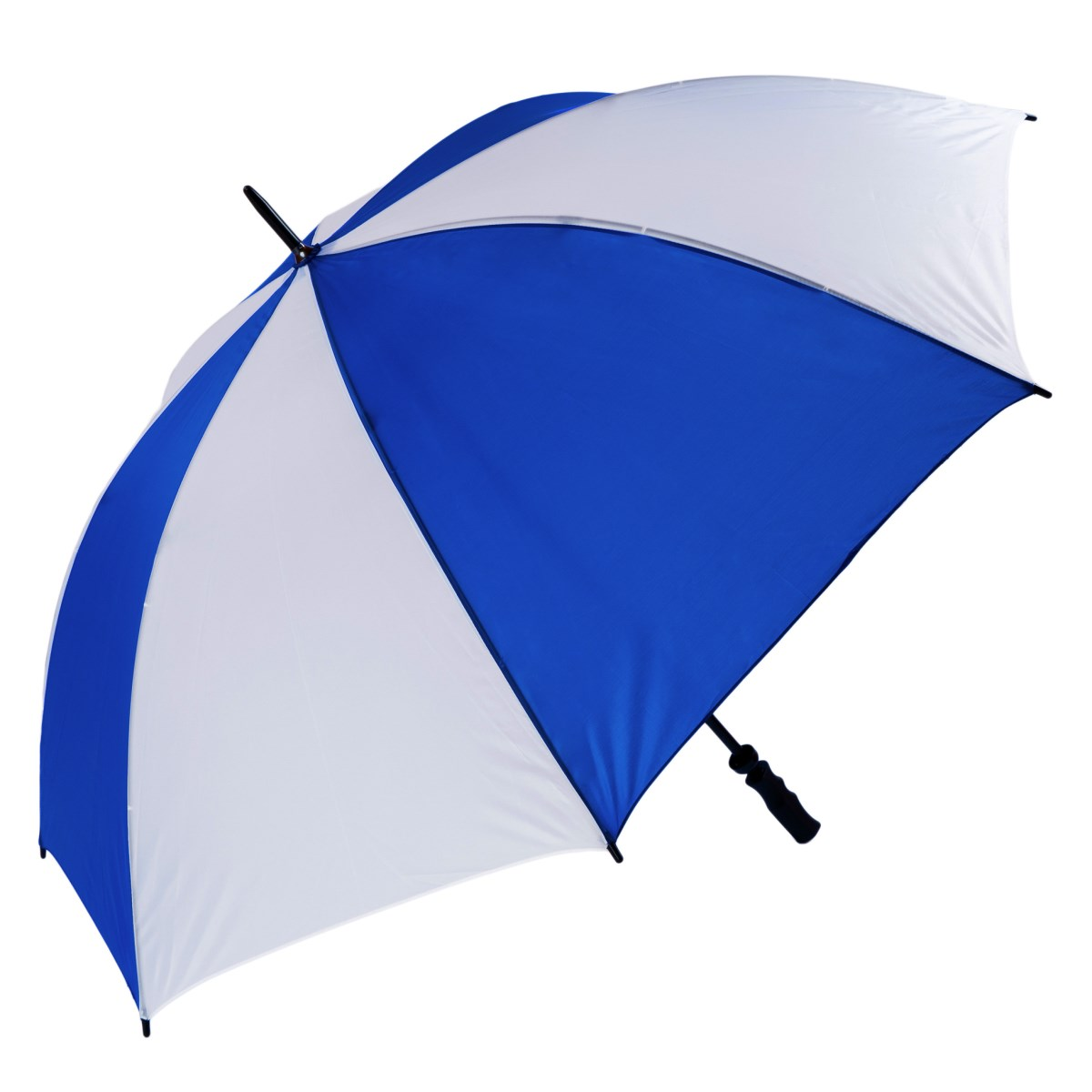 Wind Resistant Fibrelight Large Royal Blue & White Golf Umbrella (3473)
