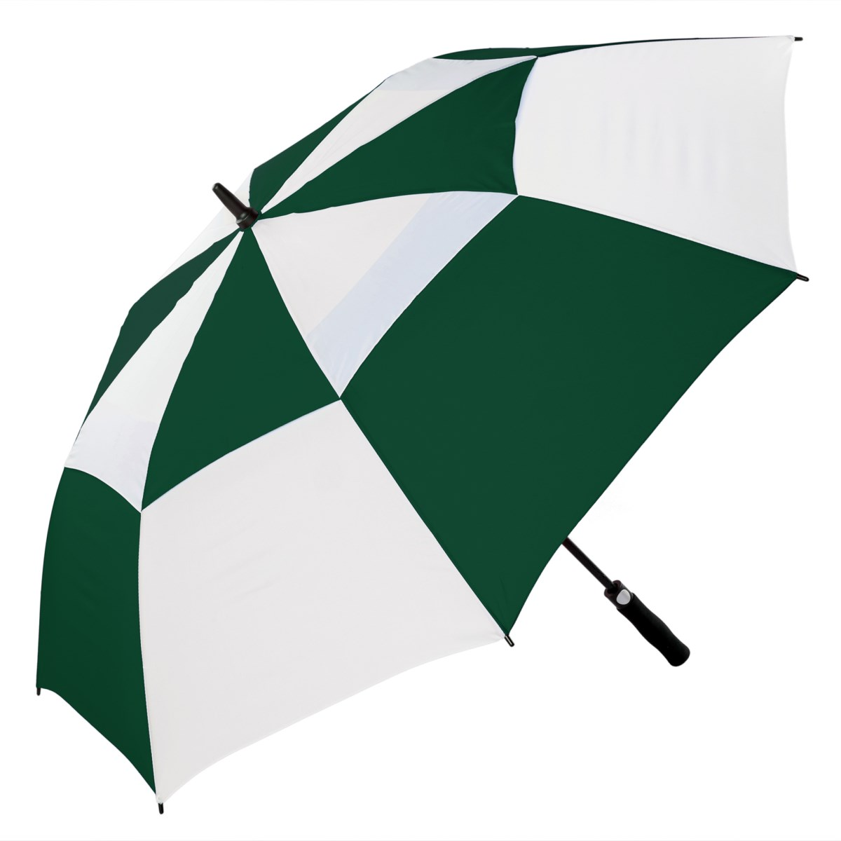 Premium Green and White FibreAuto Golf Umbrella (3477)