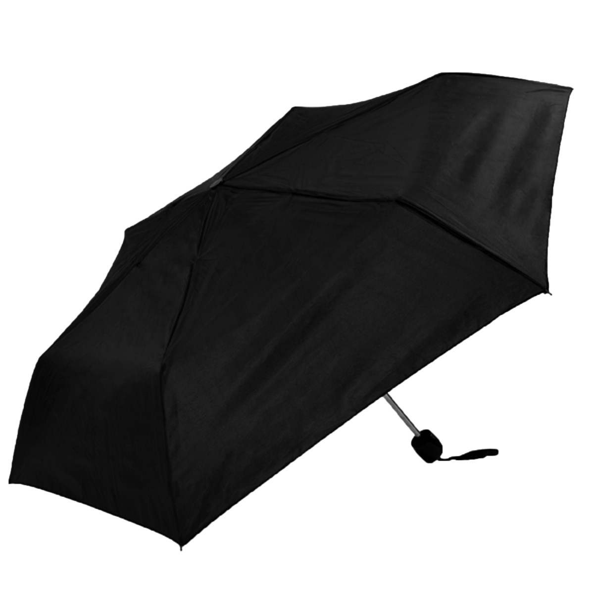 Unisex Black Basic Compact Umbrella (3501B)