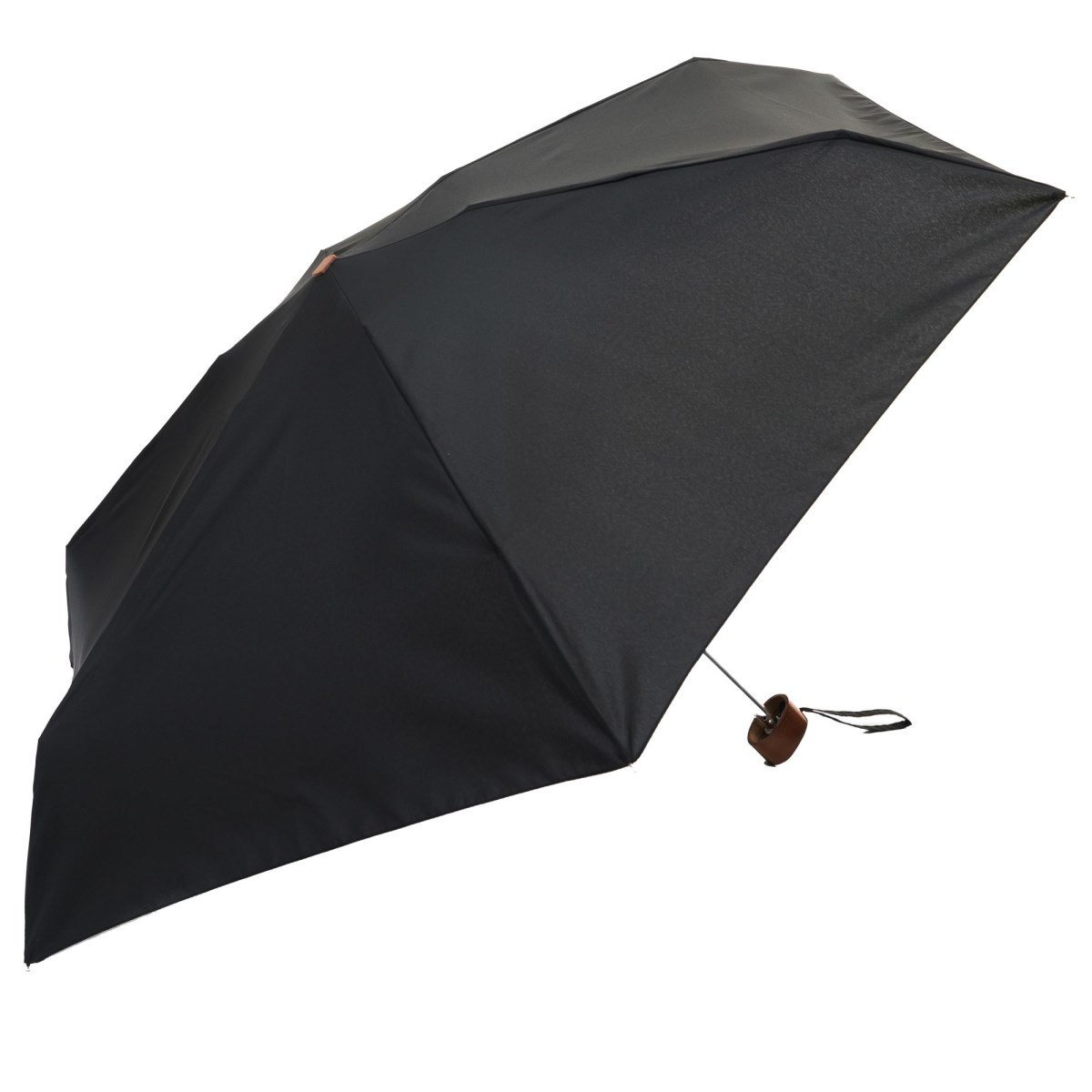 Unisex Black Mini Compact Umbrella (51003)