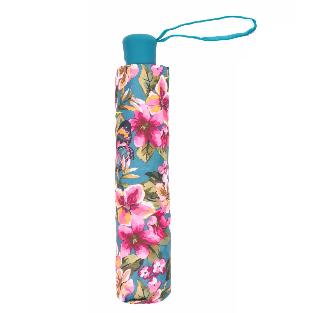 Wind Resistant Floral Botanic Automatic Compact Umbrella (31501)
