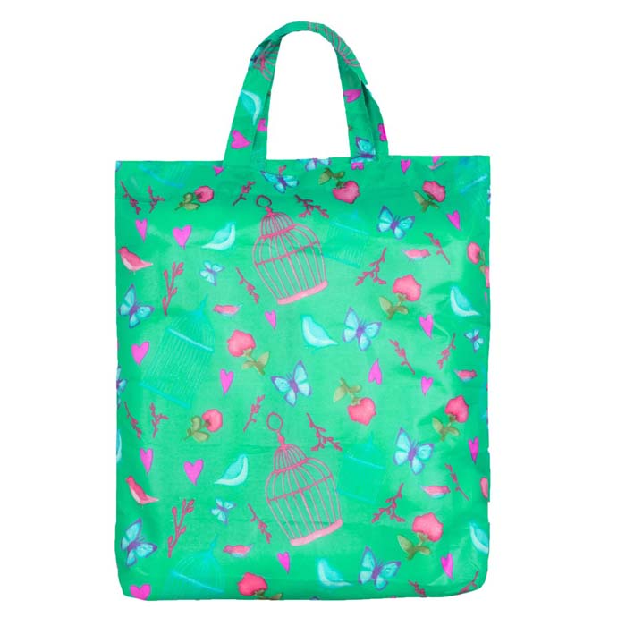 Vintage Birds & Butterflies Reusable Shopping Bag