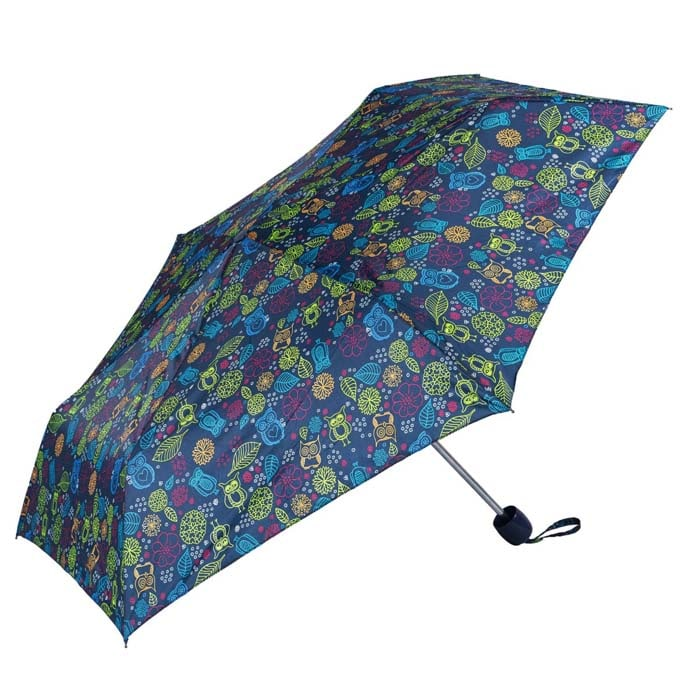 English Country Garden - Owl Print Ladies Compact Umbrella (CS31088)