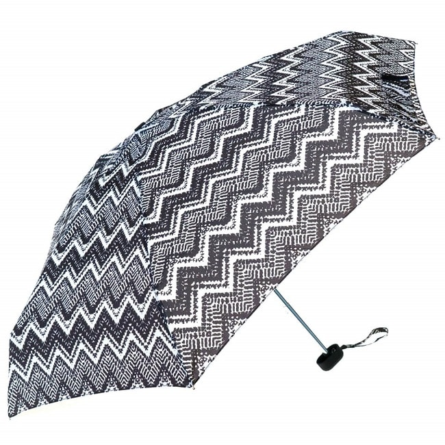 Monochrome Black and White Ladies Mini Compact Umbrella (51022)