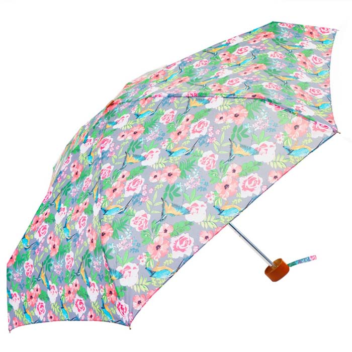 Vintage Floral Ladies Mini Compact Umbrella (51026)