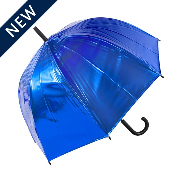 Blue Metallic Dome Umbrella (18019)