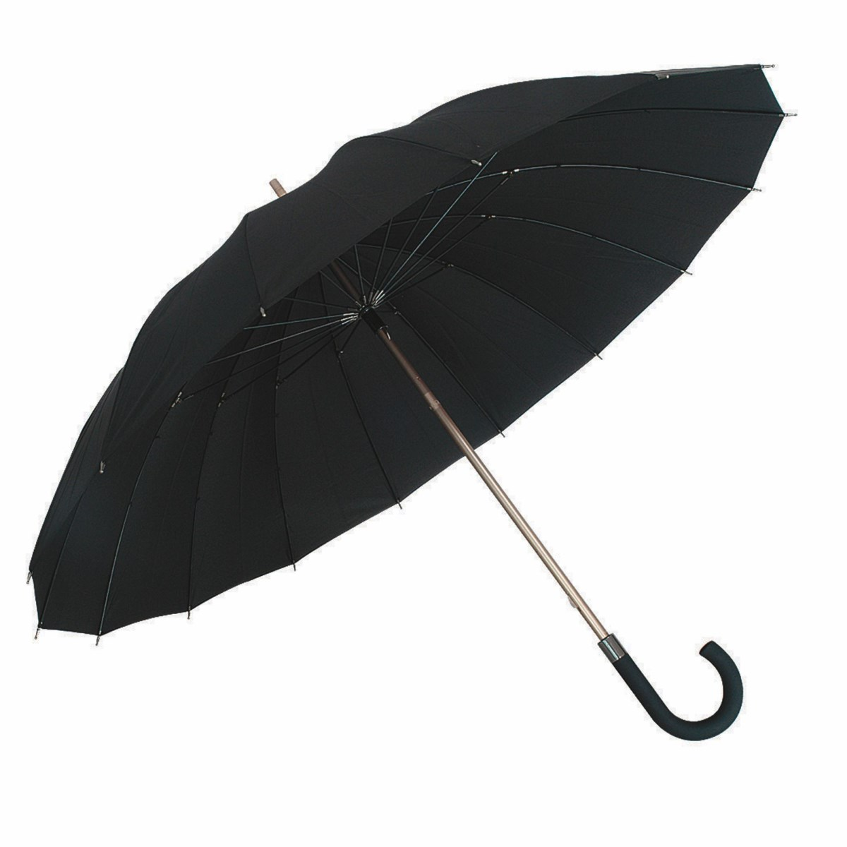 Wind resistant black gentlemens walking umbrella susino for Wind resistant material