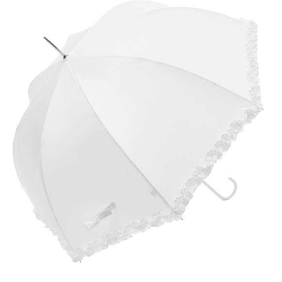 Ladies Luxury White Wedding Umbrella (12016/WHI)