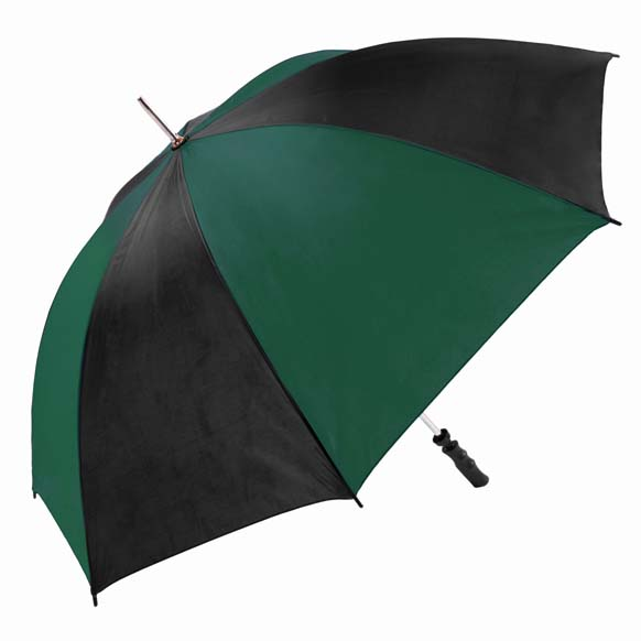 Large Green & Black Twin Coloured Golf Umbrella (13007)