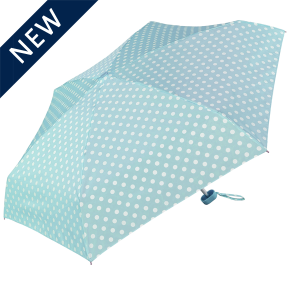 Blue Polka Dot Compact Umbrella (51033)