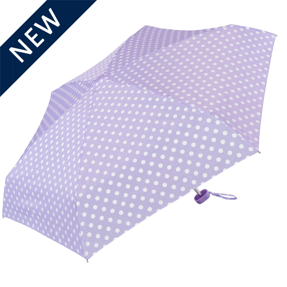 Purple Polka Dot Compact Umbrella (51033)