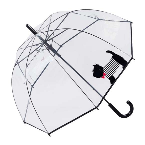 Scottish Terrier Clear See Through Dome Umbrella (17019)