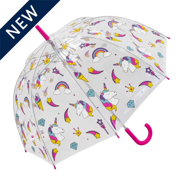 Click to view Unicorn Ladies Transparent Dome Umbrella (18001)