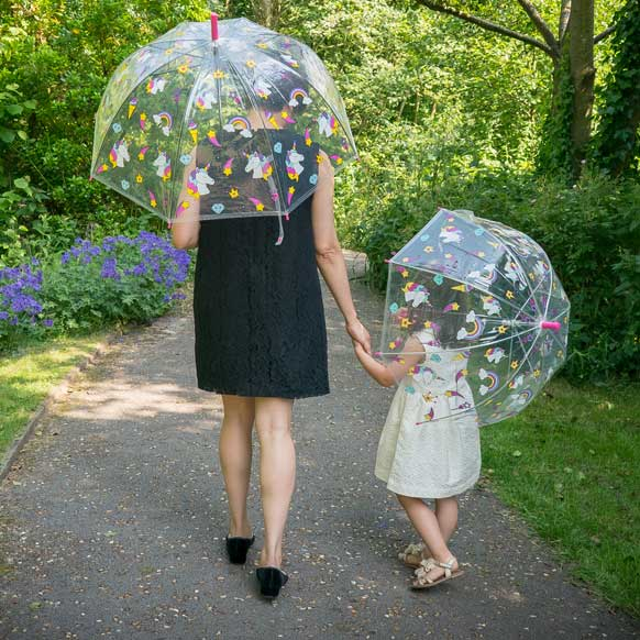 Unicorn Ladies Transparent Dome Umbrella (18001)