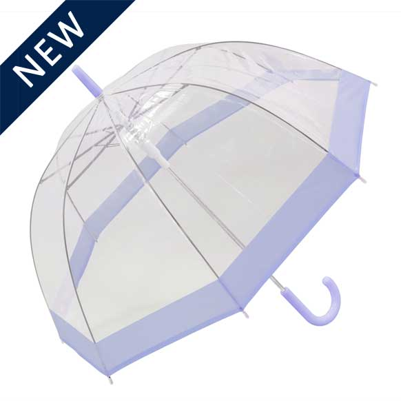 Pastel Purple Bordered Dome Umbrella (18006)