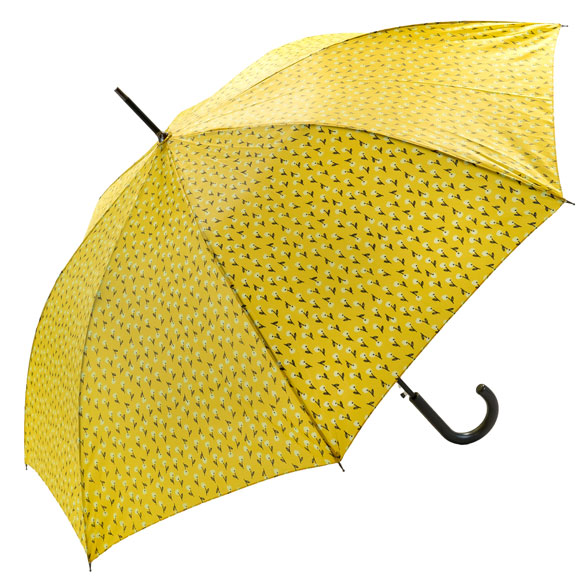 Spring Floral Yellow Walking Umbrella (18008)