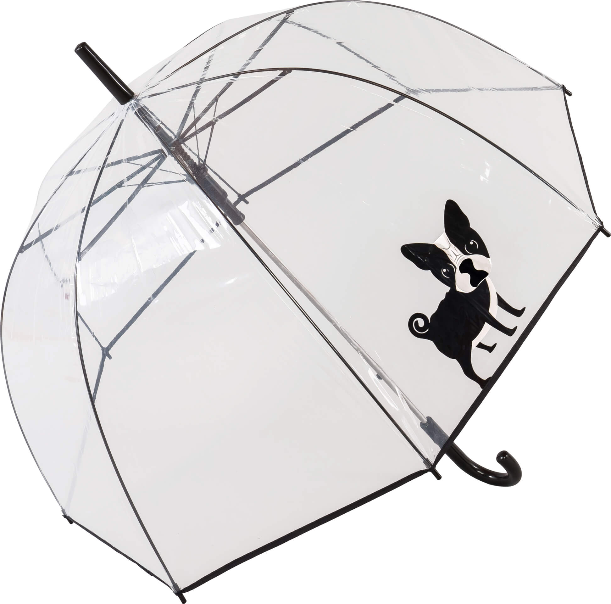 Auto Open Dog Print See-through Umbrella (18017)