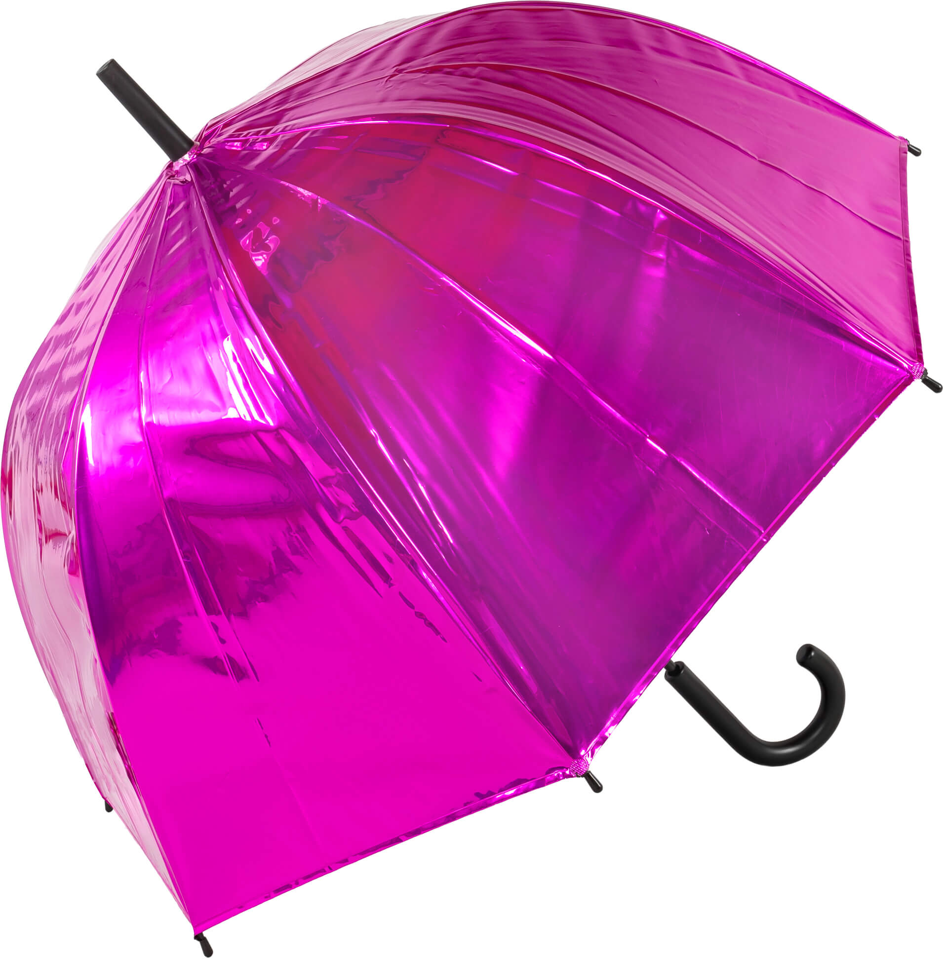 Metallic Pink Dome Umbrella Auto Open (18021P)