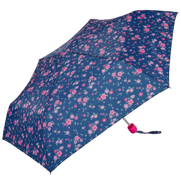 Navy Floral Fashion Umbrella (31094)