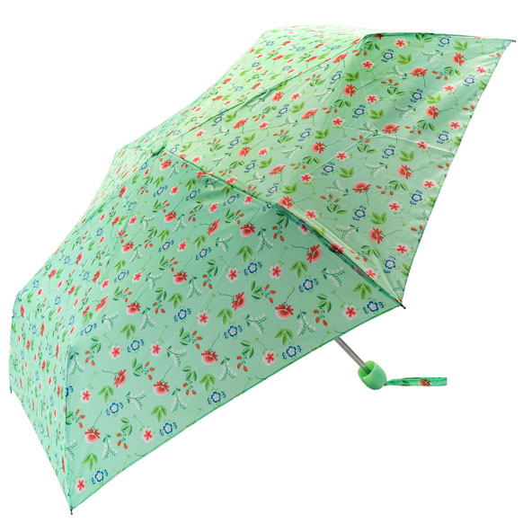 Spring Floral Green Compact Umbrella (31098)