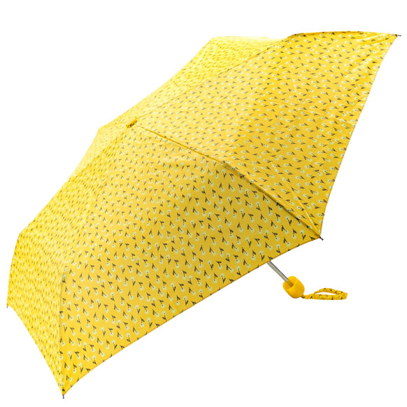 Spring Floral Yellow Compact Umbrella (31098)