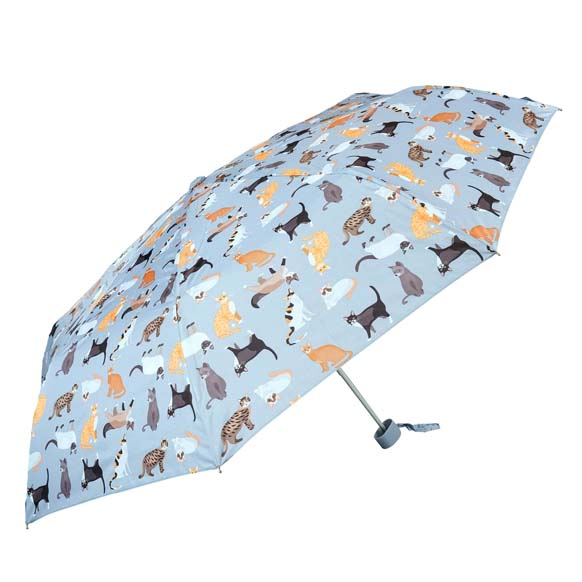 Wind Resistant Cat Umbrella Ladies Mini Compact Umbrella (31504)