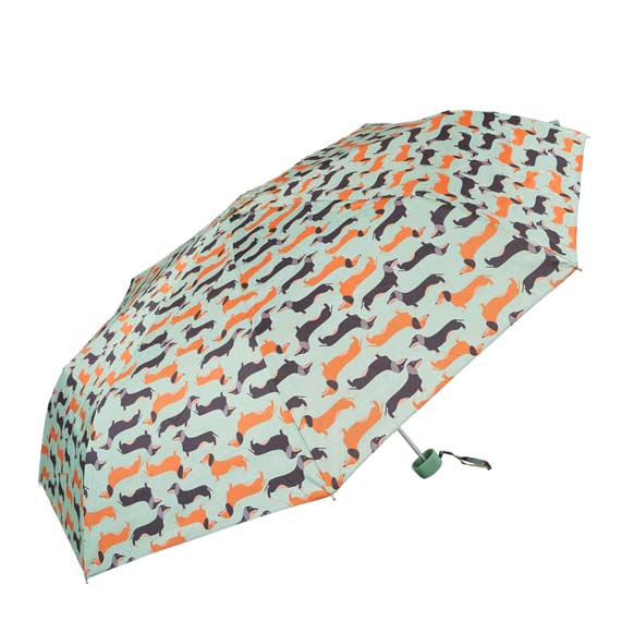 Wind Resistant Sausage Dog Dachshund Compact Umbrella (31504)