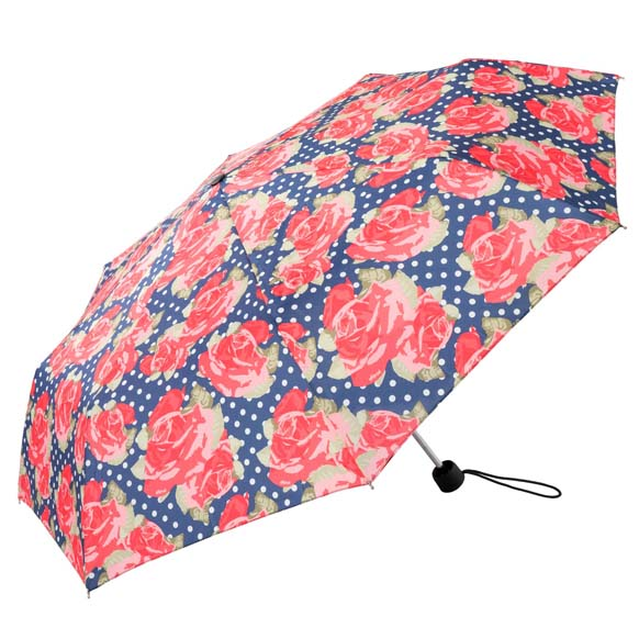 Vintage Roses Floral Ladies Compact Umbrella (31703)