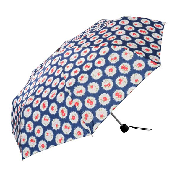 Vintage Floral Ladies Compact Umbrella (31703)