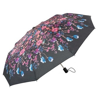 Click to view Watercolour Floral Ladies Automatic Compact Umbrella (31711)