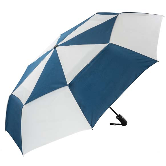 Compact Golf Umbrella Auto Open/close Windproof - Navy and White (31713)