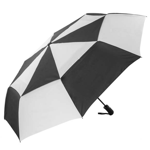 XL Canopy Folding Golf Umbrella Automatic Windproof - Black and White (31713)