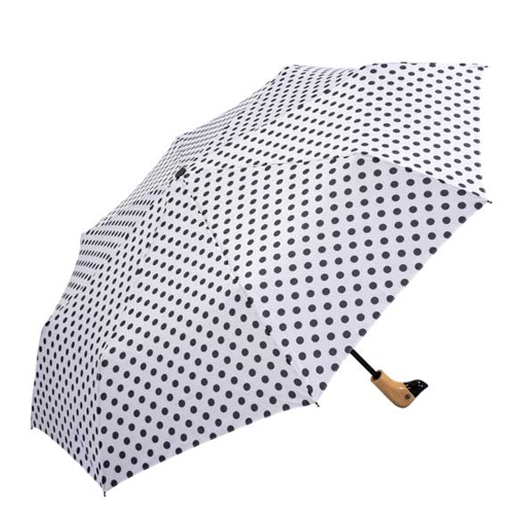 Duck Head White & Black Polka Dot Umbrella (31903p)