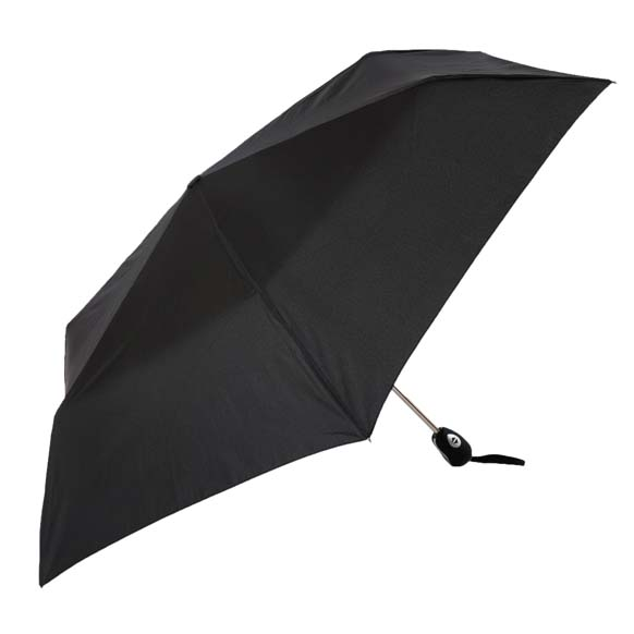 Lightweight Black Gentlemens Automatic Compact Umbrella (33155)