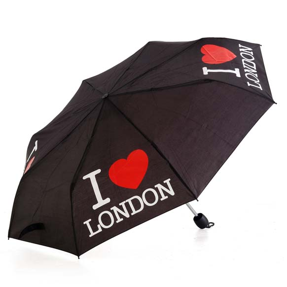 I Love London Souvenir Compact Umbrella (34011)