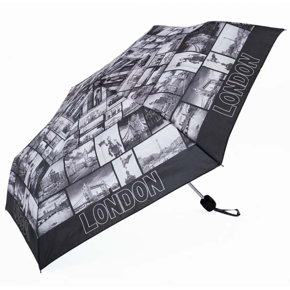 London Postcard Souvenir Compact Umbrella (34012)