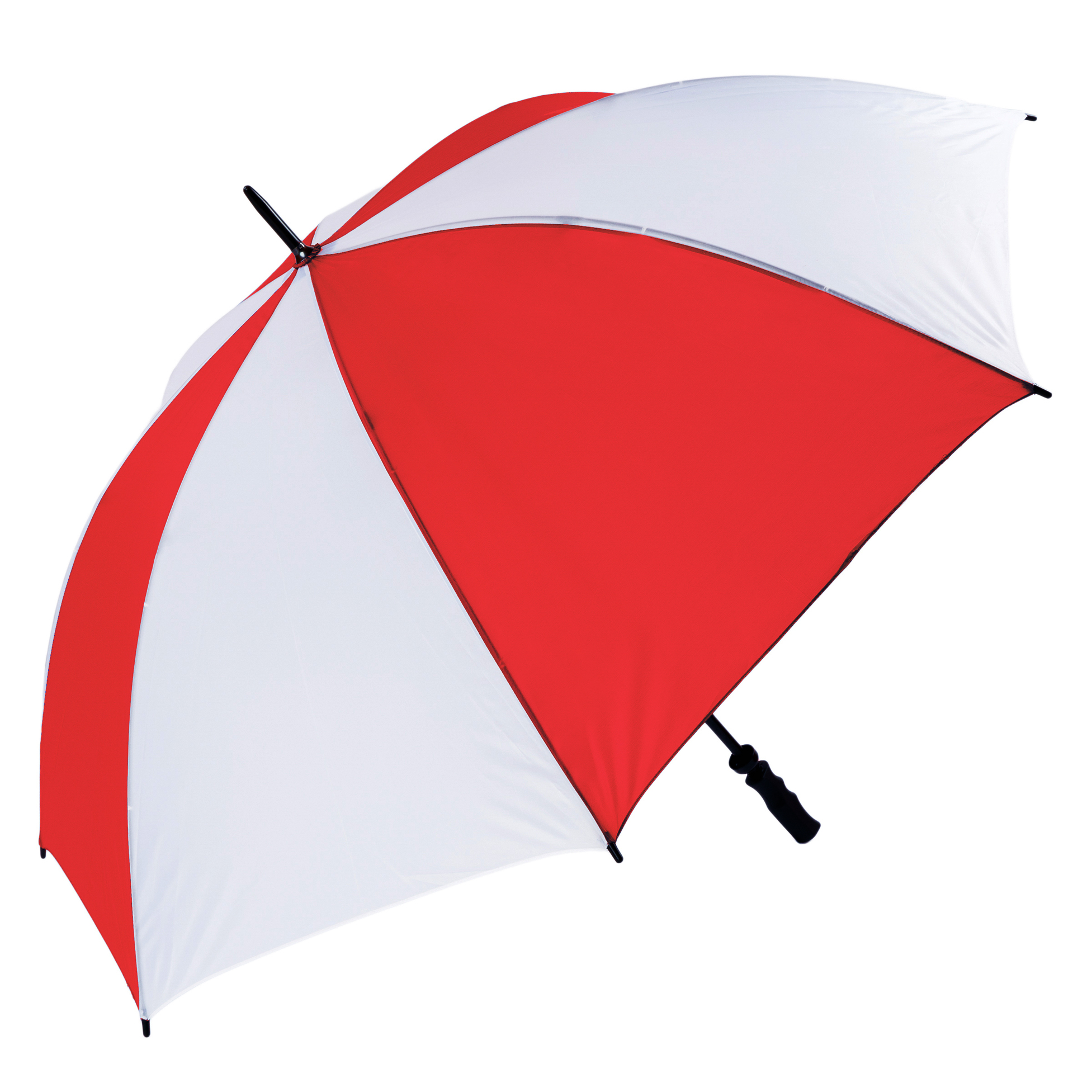 Wind Resistant Fibrelight Large Red & White Golf Umbrella (3473)